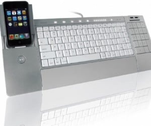 "Iconnect Keyboard With iPhone/iPod Dock: as if the ""I"" in Its Name Didn'T Tell You That Already."