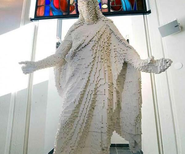 LEGO Jesus Christ Blocks Evil From Entering Swedish Church