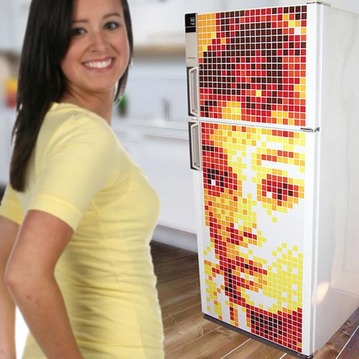 motifo pixel fridge