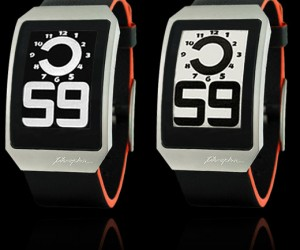 Phosphor E-Ink Watches: Kind of Like a Kindle That You Wear on Your Wrist and Doesn'T Read Books