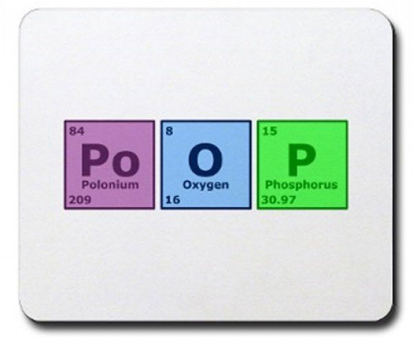 Polonium, Oxygen, Phosphorus Mousepad: Now That'S a Deadly Mixture