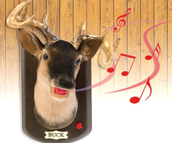 "Buck the Talking Stag Sings ""Sweet Home Alabama"". My Head Hurts."