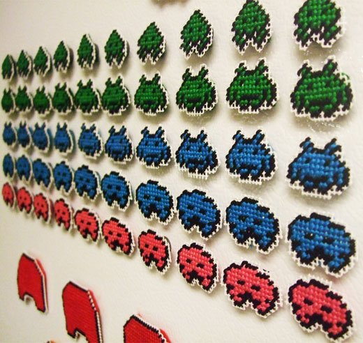 space_invaders_needlepoint_magnets