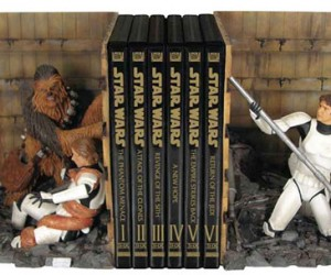 Star Wars Trash Compactor Bookends for the Lucas Literati