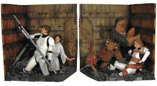 star wars trash compactor bookends 2