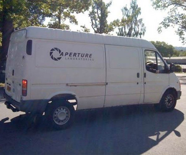 Aperture Science Van Tooling Around, Scaring the Hell Out of People [Portal]