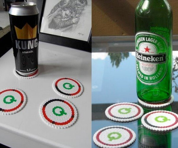 Celebrate the Infamous Rrod With Beaded Coasters