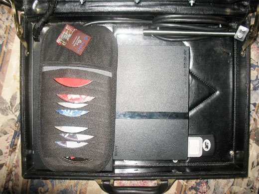 portable playstation 2 ps2 casestation briefcase