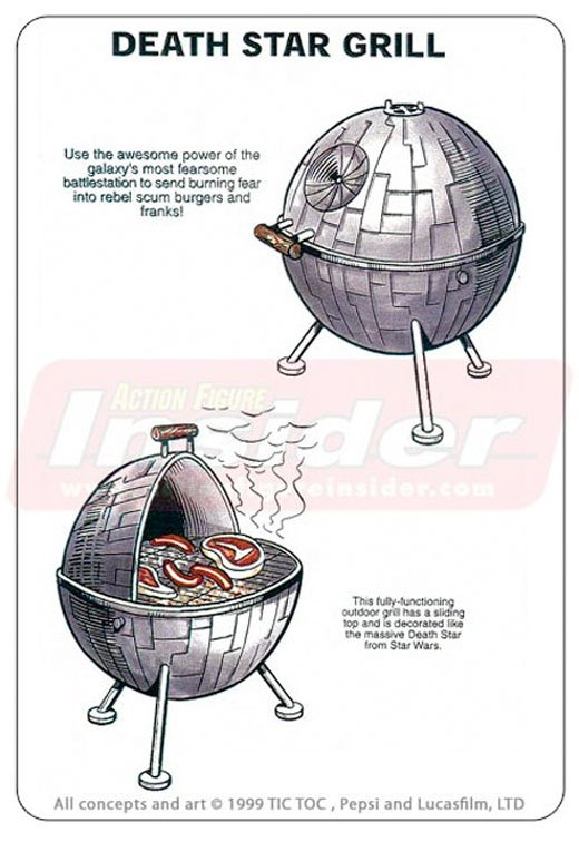 custom death star grill barbecue star wars