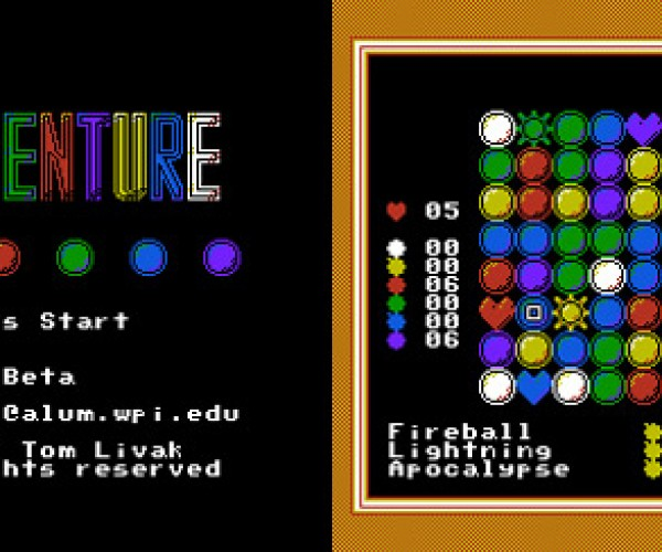 Homebrew NES Puzzle Quest Clone Lines It Up Old School