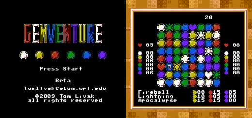 homebrew nes emulator gemventure puzzle