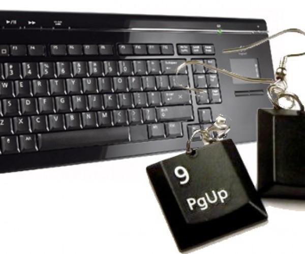 Recycling at Its Wearable Best: Keyboard Earrings