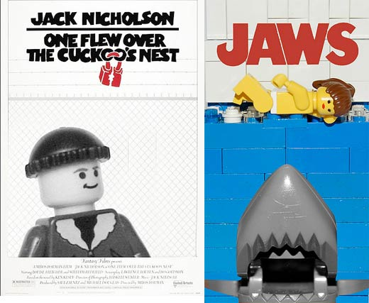 lego movie posters one flew over the cuckoo's nest jaws