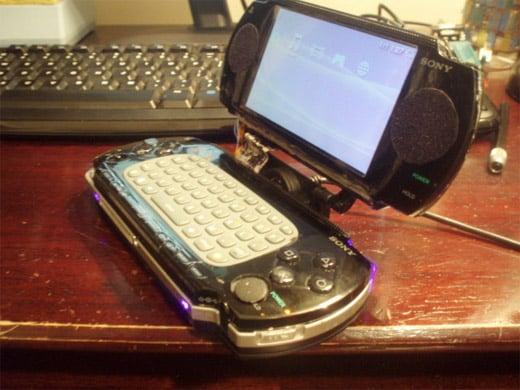 psp mod laptop keyboard flip screen