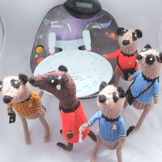 knit star trek meerkat