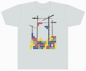 Tetris Constructed on Shirts
