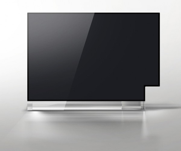 16943 Concept Tv Displays Standard and Widescreen on One Screen. and It'S a Sculpture Too.