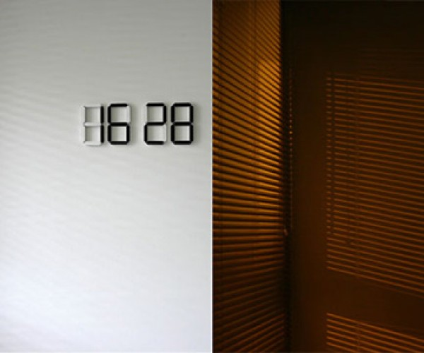 Black & White OLED Digital Clock Concept is Literally Out-of-the-Box