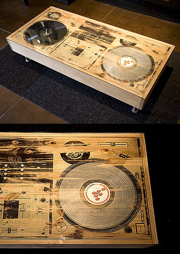 bughouse turntable coffee table