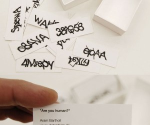 Captcha Business Cards Ask: Are You Human?