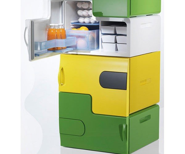 LEGO-Like Fridge Concept Allows Thieves to Steal Your Fridge One Stack at a Time