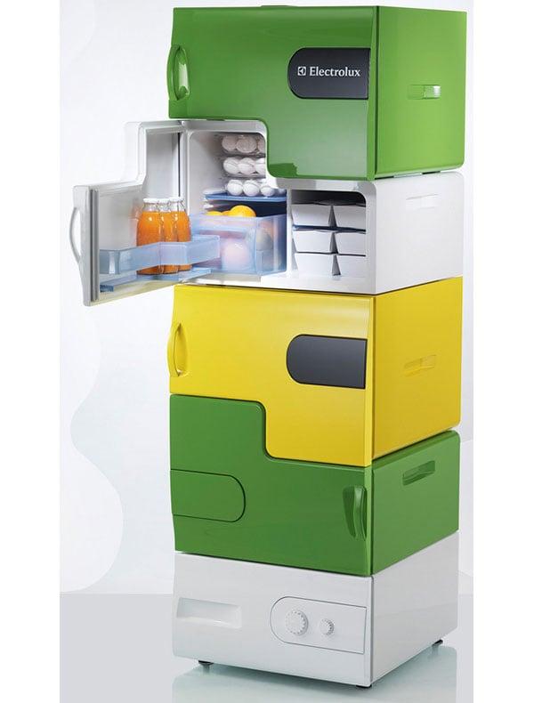 electrolux flatshare fridge