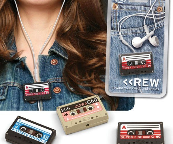 Rewind Your Headphone Cord With a Microcassette Tape