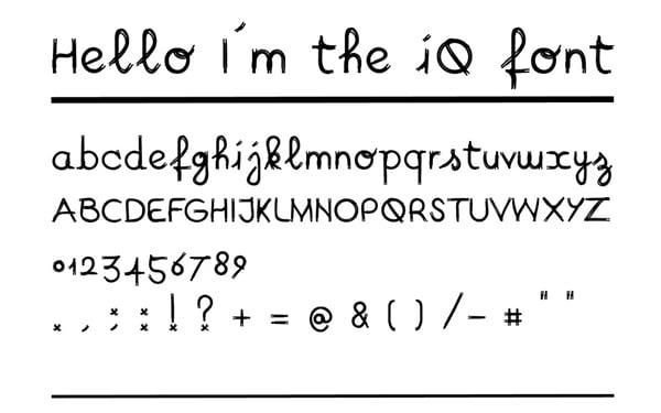 iQ font 21