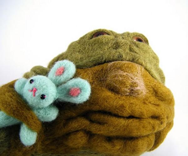 Needle-Felted Jabba the Hutt: Awwwwwww