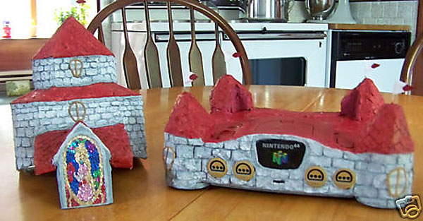 n64 princess peach casemod photo3