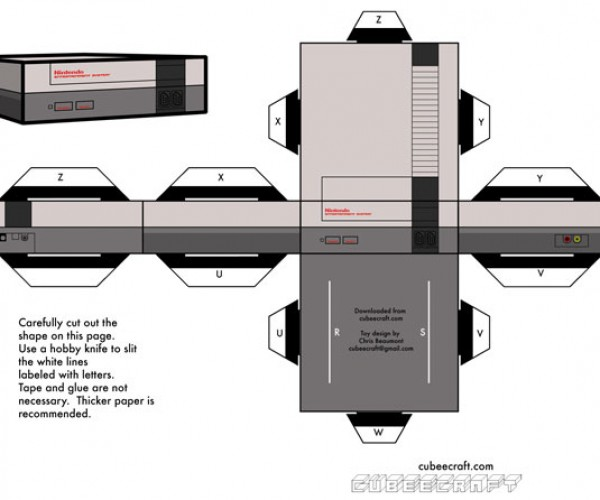 Papercraft NES is Unplayable Due to Lack of Cardboard Controllers