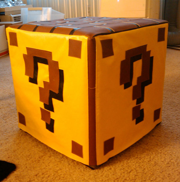 question mark block ottoman