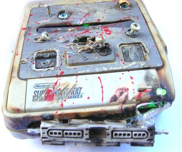 Game Over SNES Casemod From a Clearly Disturbed Mind