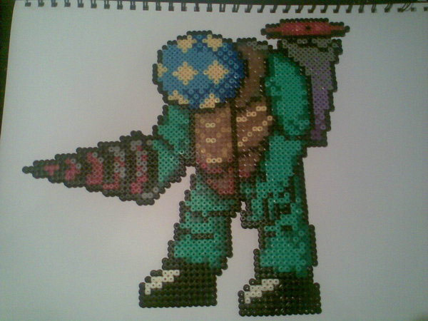 big daddy perler bead