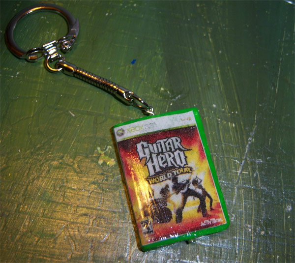 guitar hero keychain etsy