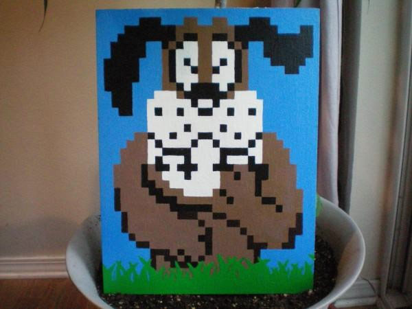 duck hunt pixel art
