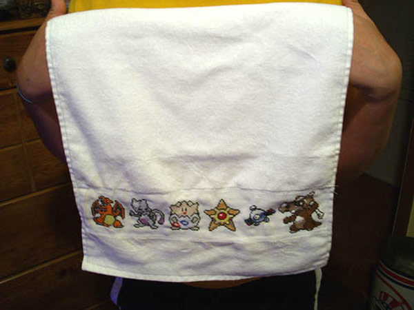 pokemon hand towel