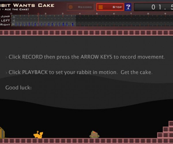 Rabbit Wants Cake, You Want a Flash Game
