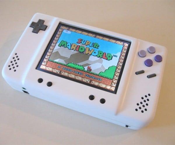 Sleek, Compact Portable SNES Mod