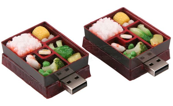 mini bento box flash drive offers extreme portion control technabob. Black Bedroom Furniture Sets. Home Design Ideas