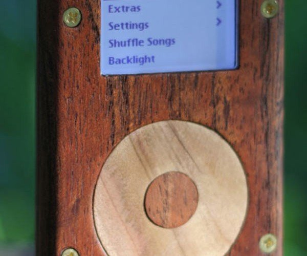 Wood and Brass iPod Mini: the Druid'S Music Player