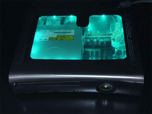 xcm black light case xbox 360 teal