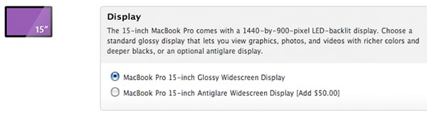15 inch Macbook Pro anti glare