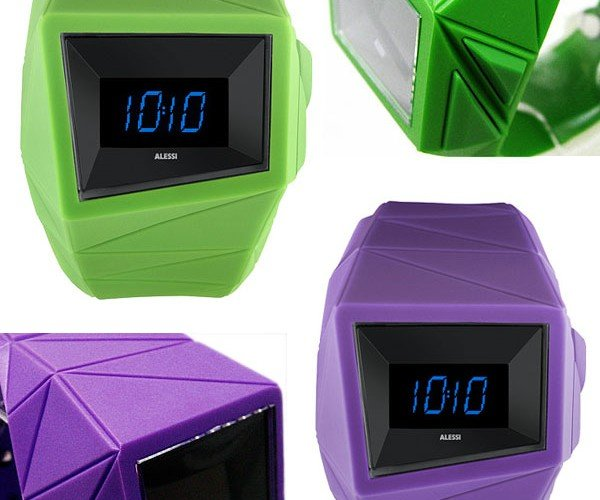 Alessi Daytimer OLED Watch: Chunky Funky Digital Time