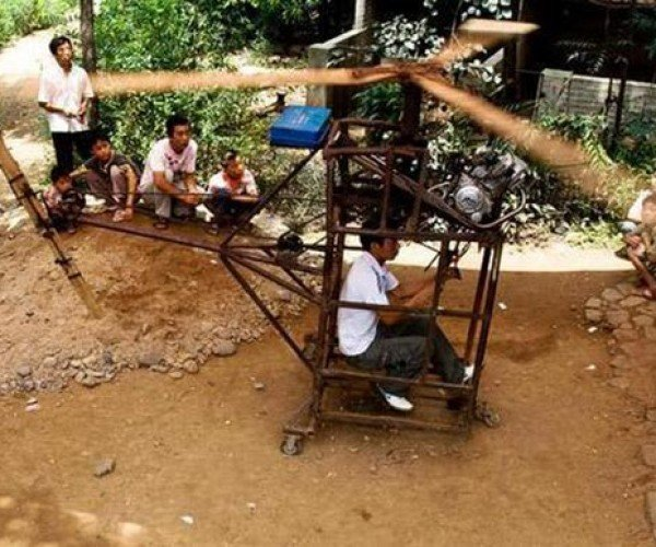 Chinese Farmer Makes DIY Helicopter, Killjoy Government Bans Him From Flying for 'Safety Reasons'