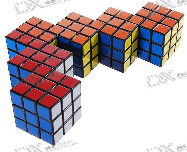 conjoined rubiks six cubes