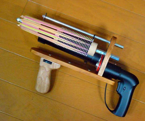 Japanese Rubber Gunman Shows Us How to Make Rubber Band Machine Guns