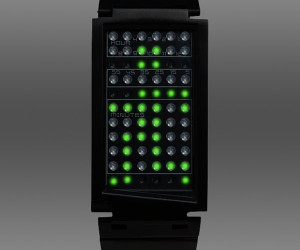 Dual Touch Touchscreen LED Watch Responds to Your Fingertip