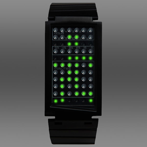 dual touch black green watch