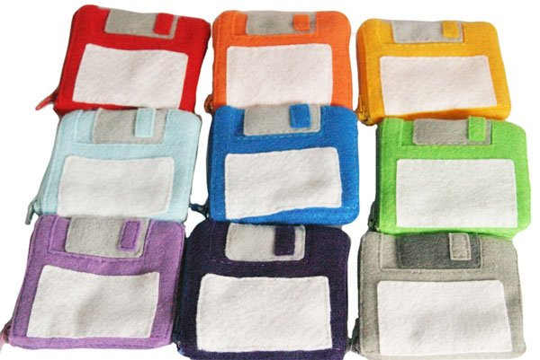 floppy disk coin purse